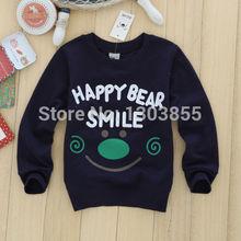Hot Autumn Cartoon Baby Long Sleeve T-shirt Tops Cotton Kids Sportswear Boys Wear Free Shipping(China (Mainland))