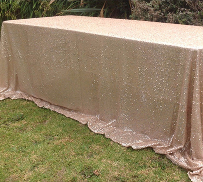 Wedding Party Sequins Piece Of Gold Tablecloth Luxury Table Cover Toalha De Mesa Manteles Para Mesa Nappe De Table Tablecloths(China (Mainland))
