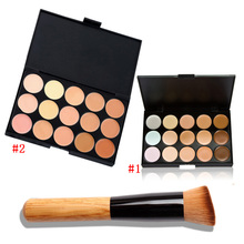 2015 Fashion Women Professional Makeup maquiagem Cosmetic Contour Concealer 15 Color Palette Make Up+Concealer Makeup Brushes