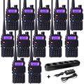 10pc Two Way Radio Communicator BaoFeng UV 5R Dual Band UHF VHF Frequency Portable Walkie Talkie