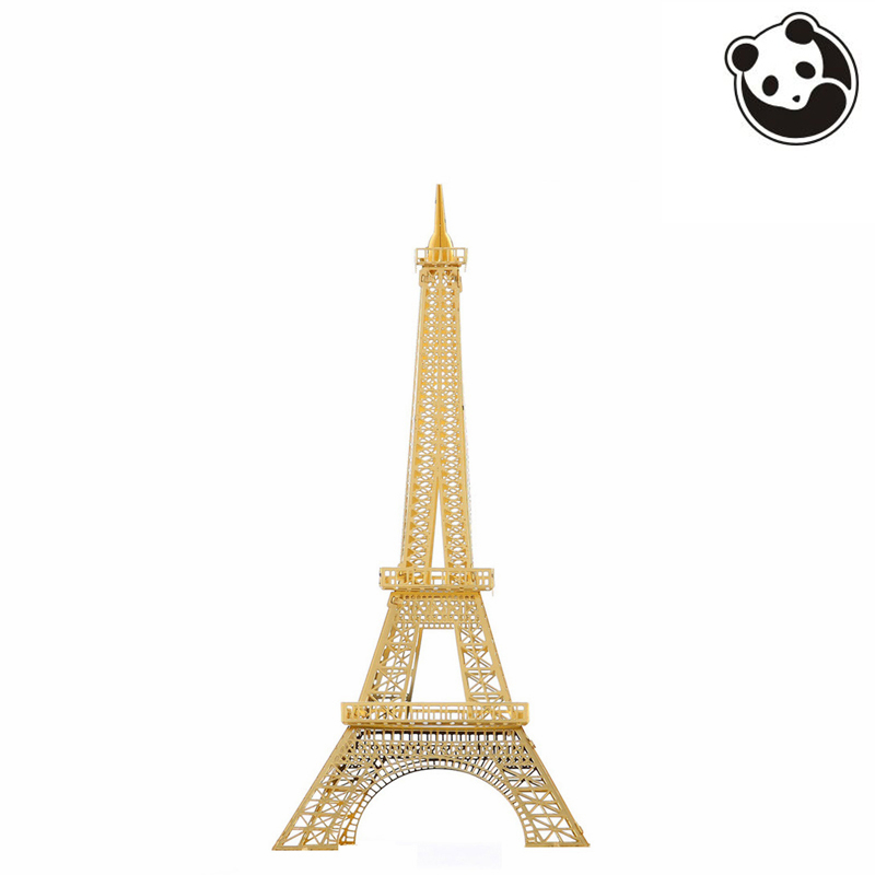 Pandamodel@Construction Famous Buildings Over The World 3D Metal Model Puzzles EIFFEL TOWER Chinese Metal Earth Stainless Steel(China (Mainland))