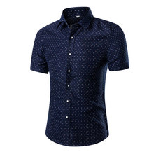 2016 Menswear Brand Men'S Short Sleeved Shirt Solid Color Slim Clothes Camisa Masculina Chemise Homme Heren(China (Mainland))