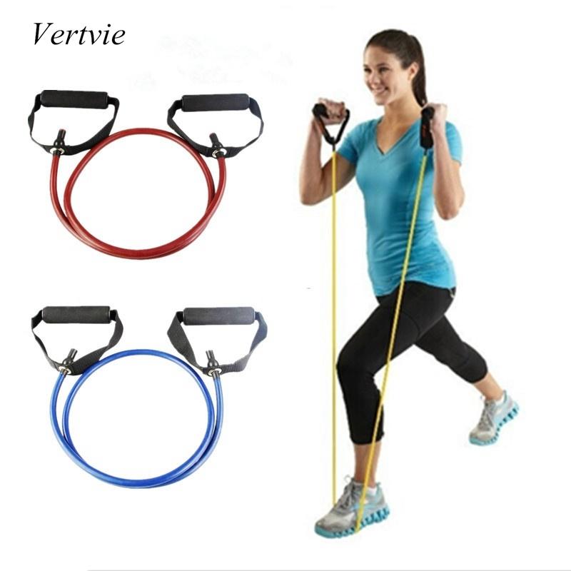 120cm Yoga Pull Rope Fitness Resistance Bands Exercise Tubes Practical Training Elastic Band Rope Yoga Workout Cordages 1PC(China (Mainland))