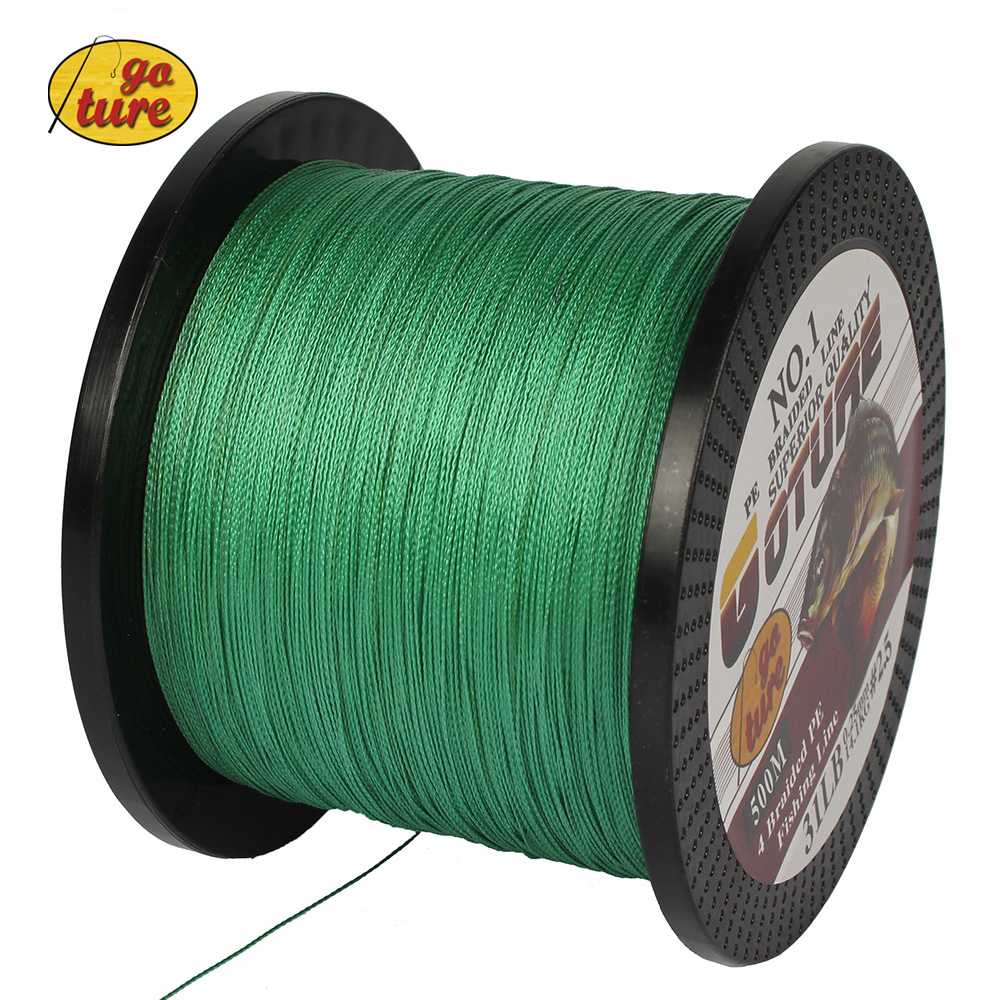 Goture Super Strong Japan Multifilament PE Braided Fishing Line 8 10 20 30 40 60LB Bass Carp Line 500Meter(China (Mainland))