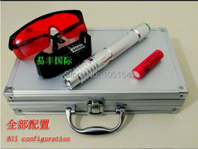 high power 500w 500000mw green laser pointers 532nm burning match/dry wood/candle/black/cigarettes+5 caps+charger+Glasses+box