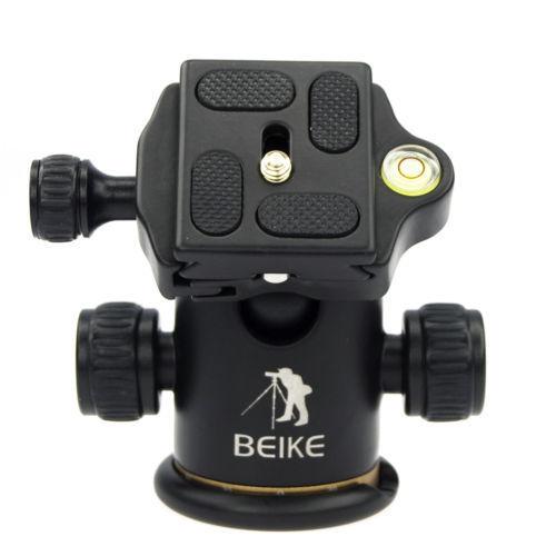 BEIKE Aluminum BK-03 Tripod Ball Head +Quick Release Plate Pro Camera Tripod Max load to 8kg(China (Mainland))
