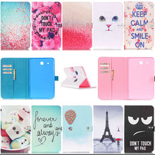 For Samsung T560 Stand PU Leather Case For Samsung Galaxy Tab E 9.6 SM-T560 T561 fashion Pattern tablet flip Cover Y3D25D
