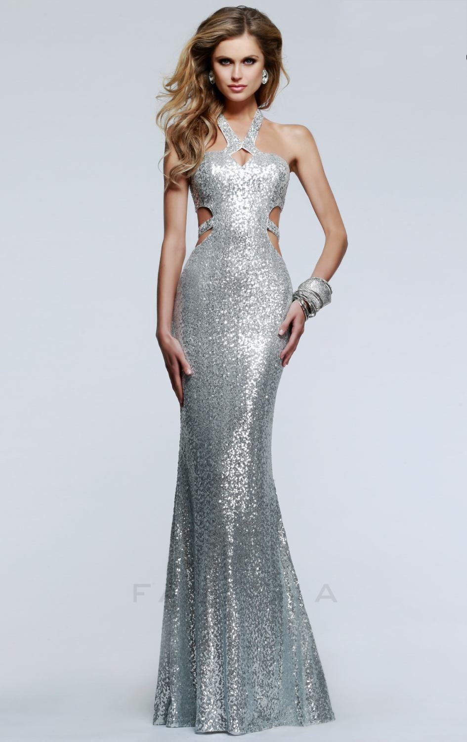 Cheap Plus Size Sequin Prom Dresses