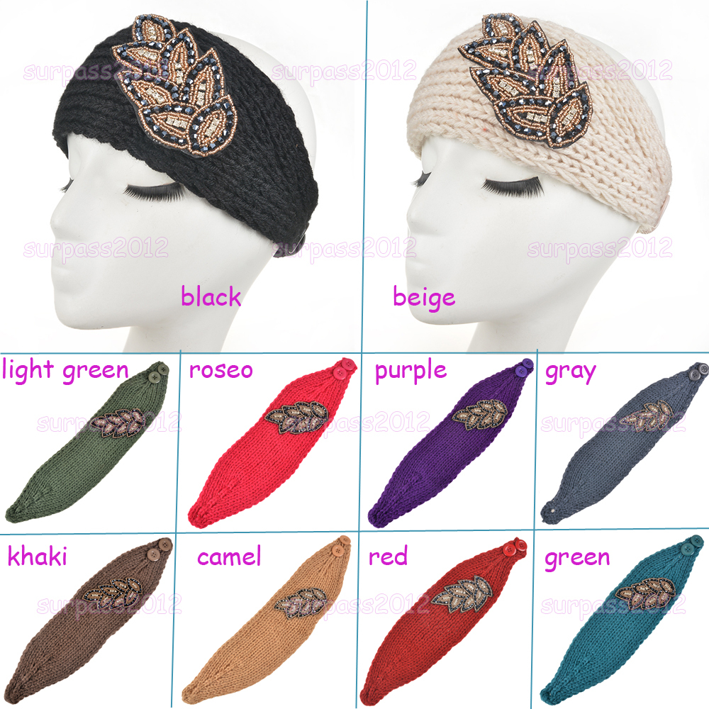 Free Adjustable Crochet Headband Pattern : Aliexpress.com : Buy womens Knit Diamond Headband Lady ...