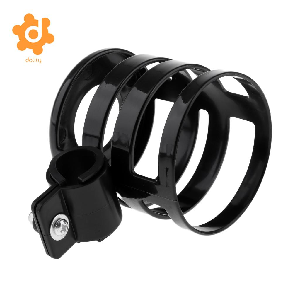 2pcs 360 Degree Rotatable Water Bottle Cage Cup Holder Drink Rack Bracket for Strollers Wheelchair Kids Adult Bikes Black