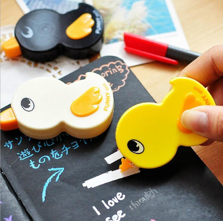 Free shipping/Hot Sells Japan &amp; Korea/cute/ lovely cartoon Duck design DIY Multifunction correction tape/Wholesale<br><br>Aliexpress