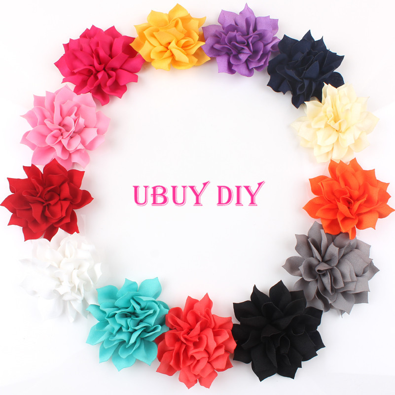 50% OFF 30pcs/lot 13 COLOR 3inch Winter Flowers Without Clips,Kids Boutique Hair Flowers,Baby Hair Accessories(China (Mainland))
