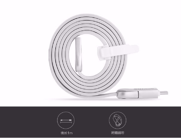 2 In 1 Type-C Micro Port USB SYNC kirsite Cable Nillkin Original 100cm 5V 2.1A Fast Charging Cable For xiaomi for meizu zuk z2
