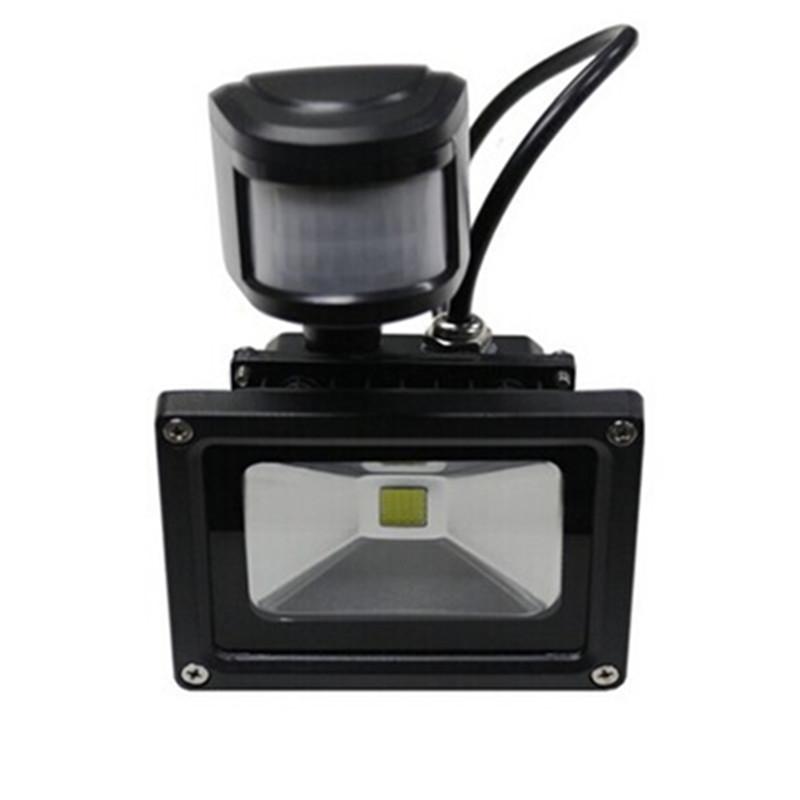 Infrared motion sensor 10w spotlight led flood light for Foco led exterior 10w