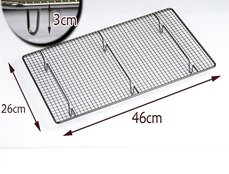Non-Stick Bake Oven Bread Cake Large Cooling Grid Tray Airing Wire Rack 46*26cm(China (Mainland))