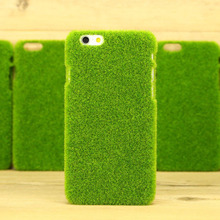 Newest Cute 3D Green Grass Simulation Lawn Plush Anti-knock Phone Case Shell For Iphone 5 5S SE 6 6S 6Plus 6SPlus Phone sets