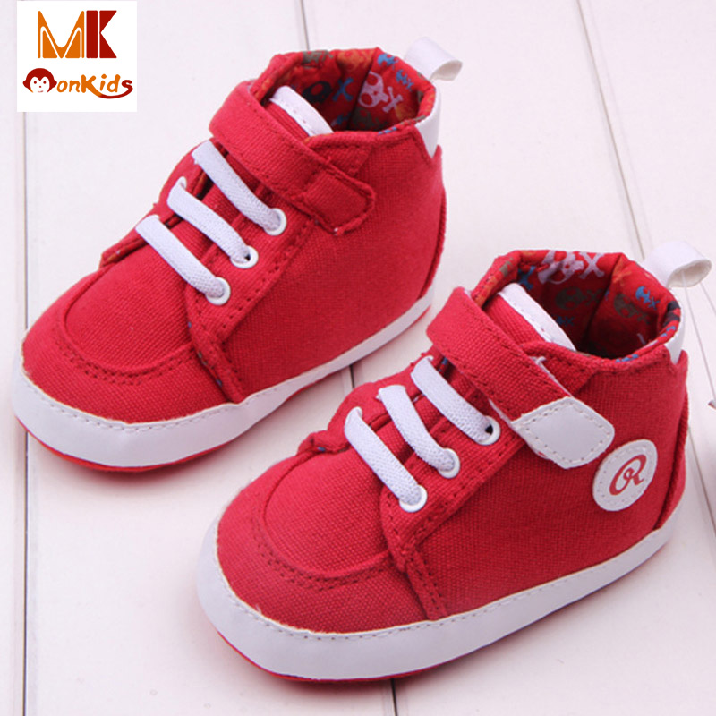 MK 2016 New Arrival Winter Solid Baby Shoes Newborns Toddler Moccasins Shallow Canvas Baby's Infant Boy Shoes for Kids(China (Mainland))