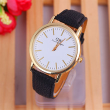 2015 9 Color Casual Style Daniel Wellington Watches Women Men Quartz Watch PU Leather Strip Relogio Feminino Gift Relojes W240