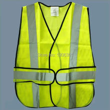 Two vertical and slashes yellow reflective vest/ Reflective overall /Reflective safety vest/Reflective traffic vest(China (Mainland))