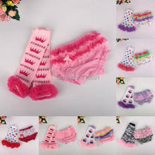 In Stock! Girls Ruffle Shorts + lace stocking sets, Baby cute lace PP pants+ dotted striped socks suits 3sets/lot d315(China (Mainland))