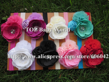 New design Kids headbands rose flower baby headbands shabby headbands cute headbands hair accessories 8pcs/lot free shipping