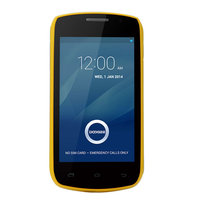 """DOOGEE Collo3 DG110 4.0"""" IPS Android 4.2.2 OS MTK6572 Dual Core 1.0GHz Phone 512MB+4GB 3G GPS 5.0MP Camera Smart Phone Yellow"""