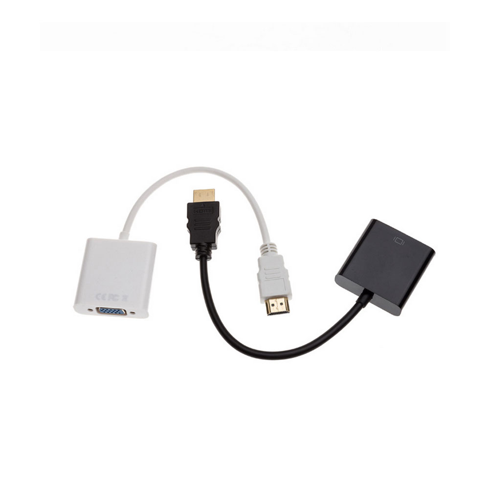 BLACK / WHITE HDMI to VGA Cable HDMI Male to VGA Female HDMI to VGA Video Converter Adapter Cables HD 1080P for PC Laptop(China (Mainland))