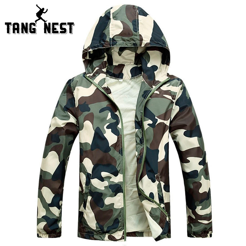 Hot Selling 2015 New Arrival Men Fashion Camouflage Jacket Summer Tide Male Hooded Thin Sunscreen Coat Wholesale MWW170