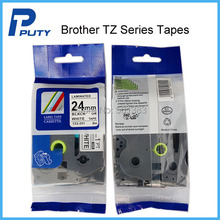 Black on white label tape for Brother TZ-251/TZe-251 PT-7600 PT2730 PT-P750W PP700