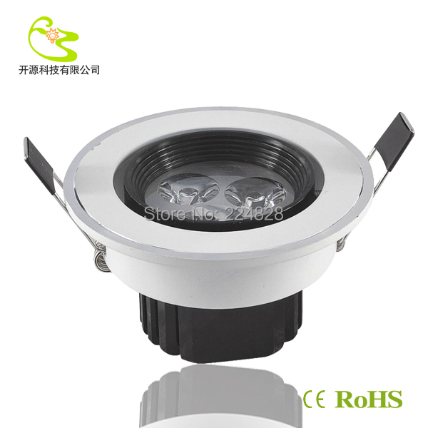 Free shipping 3w recessed led downlight Aluminum materail 85-265v 27lm led downlight 3w<br><br>Aliexpress