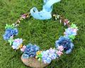 Hippie Love Flower Garland Crown Valentine Wedding Hair Wreath BOHO Floral Headband artificial flower headwear crow