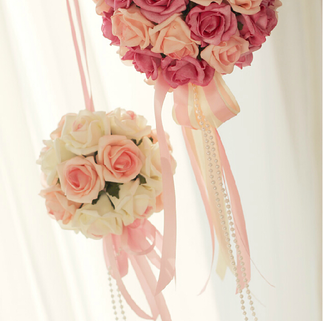 Beautiful PU rose ball wedding party decoration photography props artificial flowers(China (Mainland))
