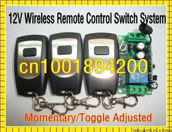 DC12V 1CH Wireless Receiver&Transmitter Remote Control switch System Momentary/Toggle/Latched aduste 10A 315/433 Light ON OFF
