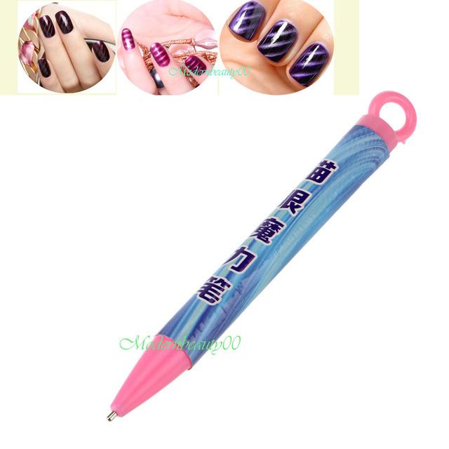 1 Шт. Nail Art Инструмент Магнит Ручка для DIY Магия 3D Магнитная Кошки Глаза Польский
