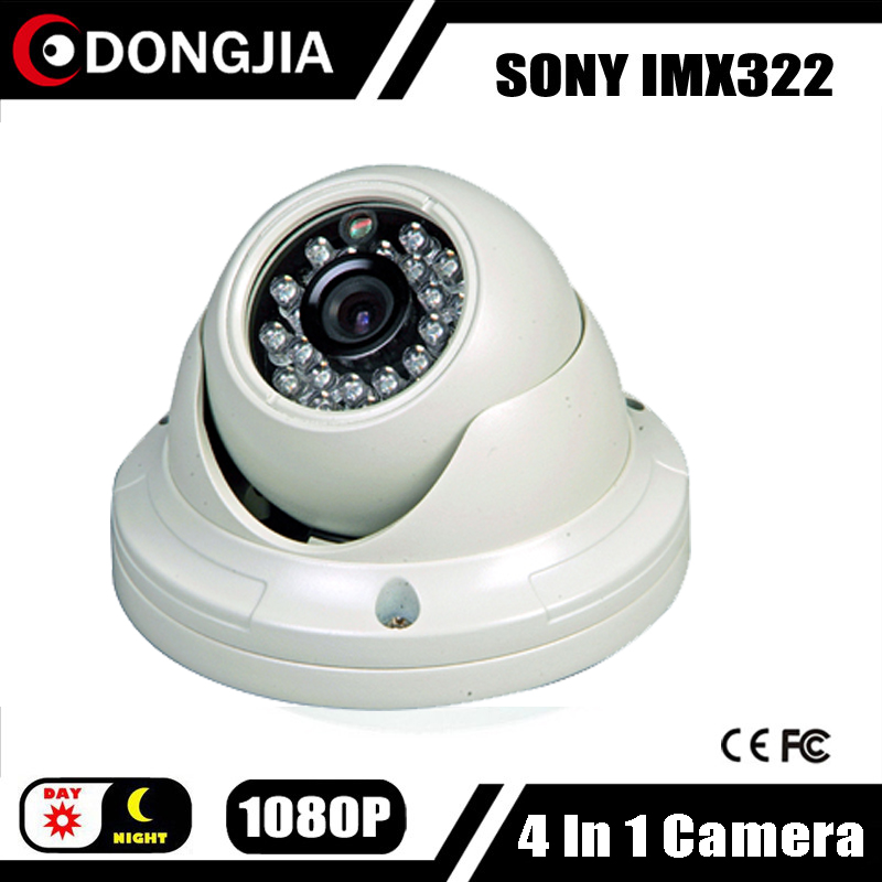 DONGJIA DJ-TCA2033 DWDR OSD 4 in 1 AHD HDCVI HDTVI CVBS CCTV Camera 1080P 2.0Megapixel Indoor Dome 3.6mm Lens(China (Mainland))
