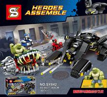 Buy 2017 New Hot Sale SY842 Marvel Super Heroes Batman Crocodile Killer Wars Building Blocks Bricks Kids Baby Gift Toys for $39.89 in AliExpress store
