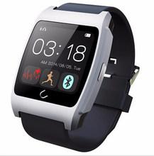 Ux смарт U часы пульсометр охранной сигнализации Bluetooth SmartWatch NFC Uwatch носимых для android-iphone Samsung испанский