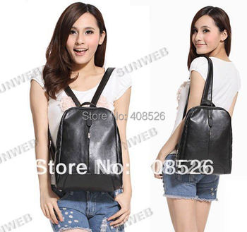 2014 new arrival women retro PU leather Backpack shoulder bag 2 Colors free shipping 7084