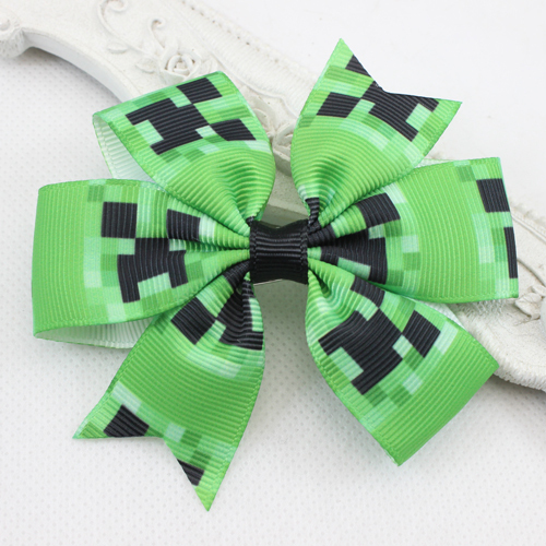 2015 New Green&Black Hair Bow Clip Boutique Bow with Alligator Clip Baby Girls Hair Clip Hairpins Hair Accessories for Hair 10pc(China (Mainland))