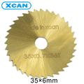 35mm TI coated Mini HSS Circular Saw Blade Rotary Cutter For Metal Hand Tool Set