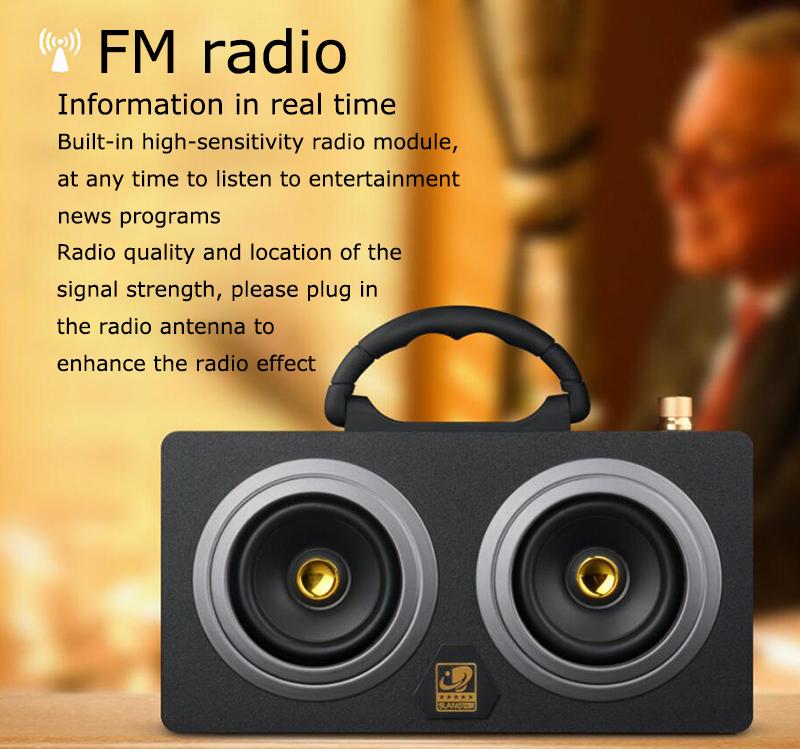 speaker wood USB microphone FM 11