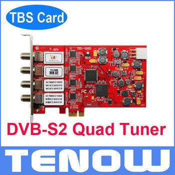 TBS6985 DVB-S2 PCIe Quad Tuner TV Card TV Tuner Receiver, Watch Satellite TV Freesat TV on PC Hot on Sale!