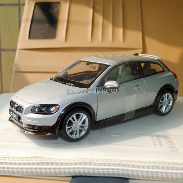 Brand New Cool 1/24 Scale Car Model Toys VOLVO C30 Diecast Metal Car Model Toy For Gift/Kids/Collection -Free Shipping(China (Mainland))