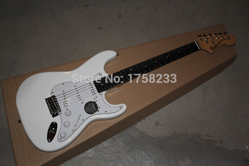 2019 Free shipping 2015 Guitar Factory F Stratocaster White Custom Shop Electric Guitar Ebony Fingerboard(China (Mainland))