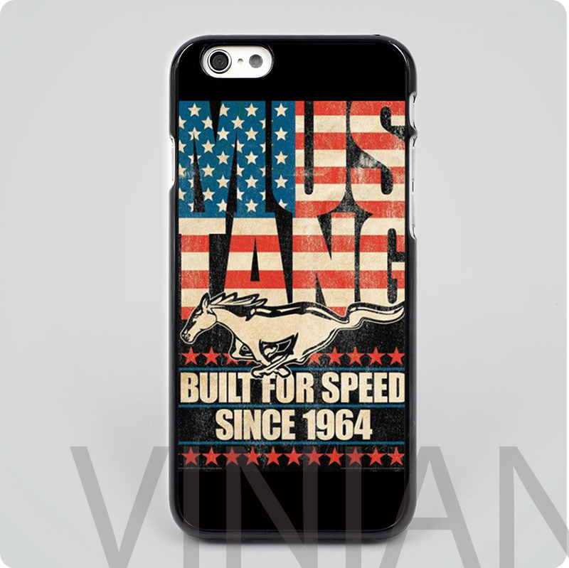 Ford Mustang us America flag black hard skin mobile phone cases cover housing for iphone 4 4s 5 5s 5c 6 6 plus free shipping(China (Mainland))