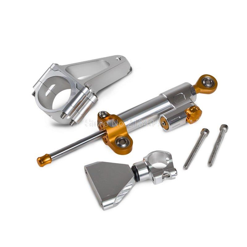 Silver Steering Damper Stabilizer & Mounting Kit For Honda CBR600 F4i PC35 2001-2007 Wholesale Price