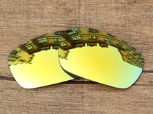 Polycarbonate-24K Golden Mirror Replacement Lenses For Jawbone Sunglasses Frame 100% UVA & UVB Protection