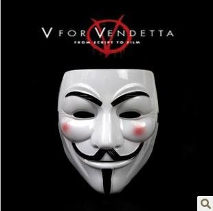 Hot sale V for vendetta mask anonymous mask PVC party cosplay props 5pcs/lot(China (Mainland))