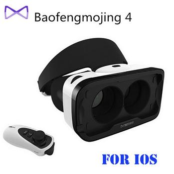Baofeng Mojing 4 Smart Glasses Googles Smartphone VR Headset Virtual Video Glasses+Bluetooth Controller IOS Version