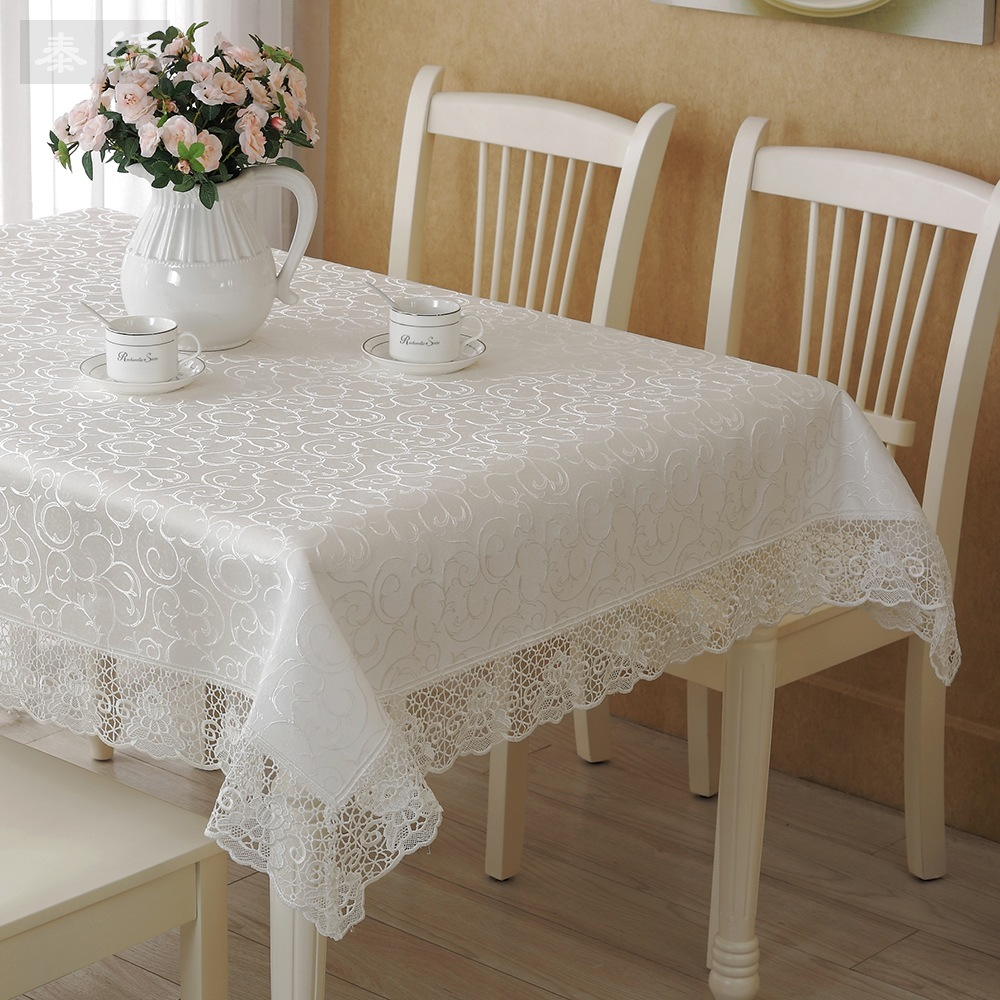 pattern embroidered cloth european style coffee table cloth tablecloth